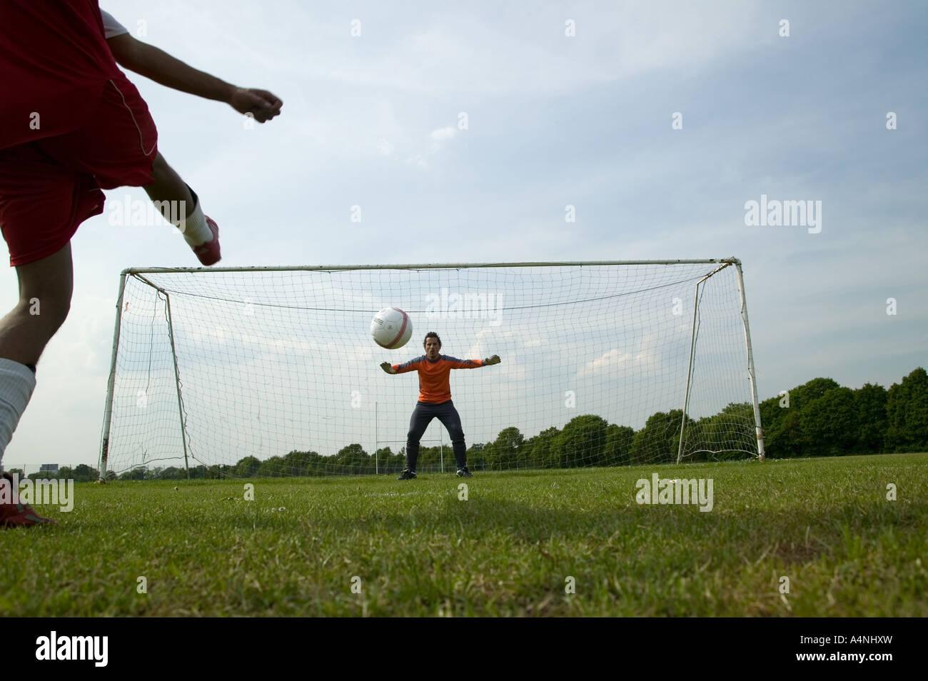 Soccer Penalty Shot - Stock Image