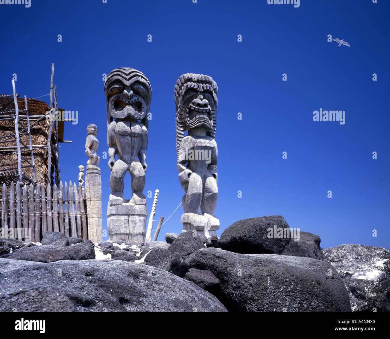USA - HAWAII:  Pu'uhonua Honaunau Refuge on Big Island - Stock Image