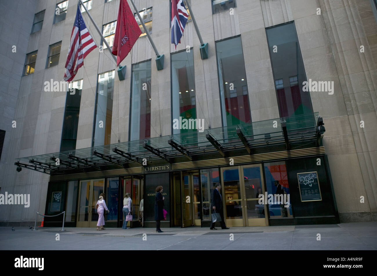 Entrance To Christie Auction House At 20 Rockefeller Plaza In New York USA April 2005