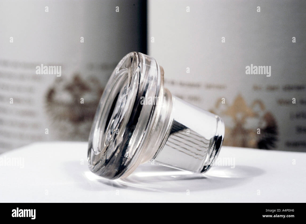 stopper made of glass - Stock Image