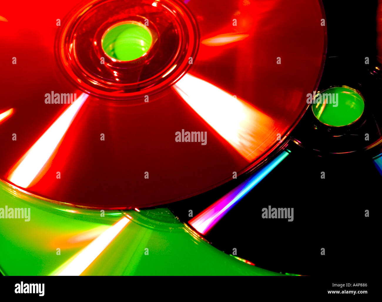 Cd s DVD s Photo - Stock Image