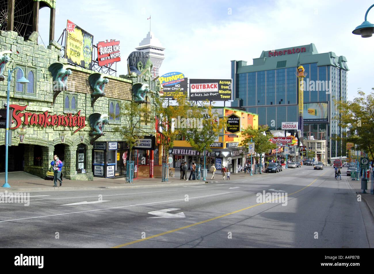 Cityscape Of Downtown Niagara Falls Ontario Canada Stock