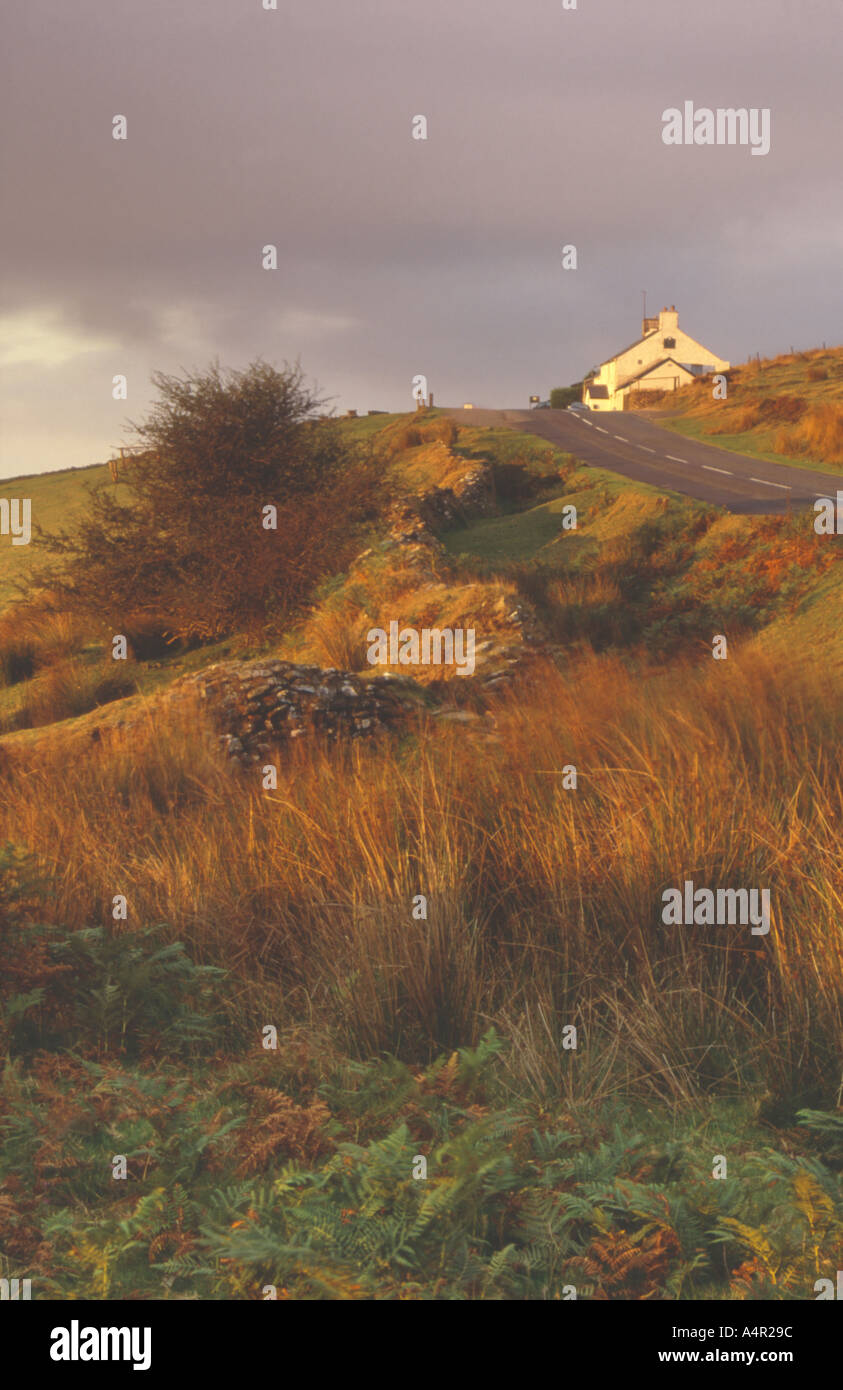 Warren House Inn Dartmoor Devon UK - Stock Image