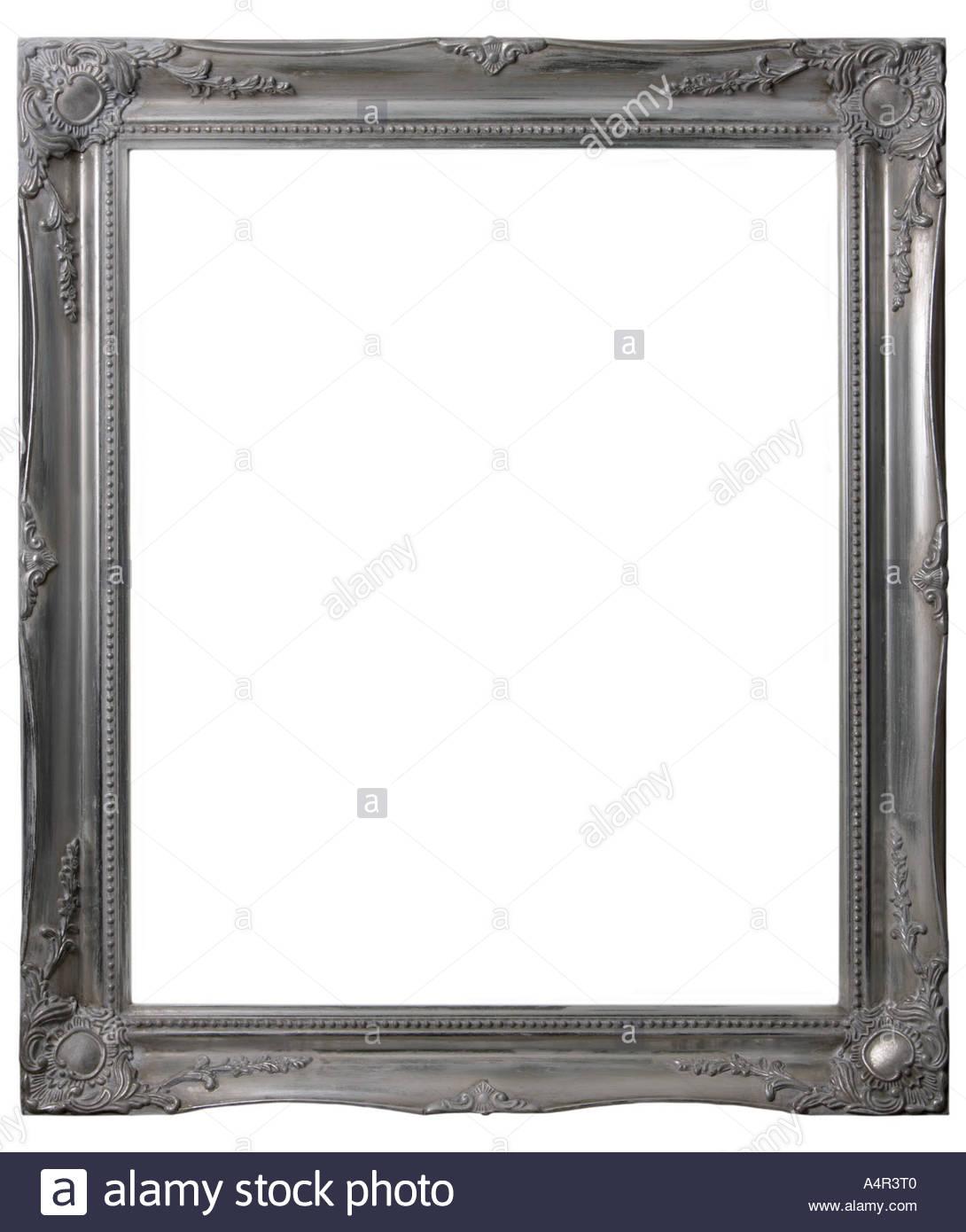 Mirror Ornate Silver Frame Stock Photos & Mirror Ornate Silver Frame ...
