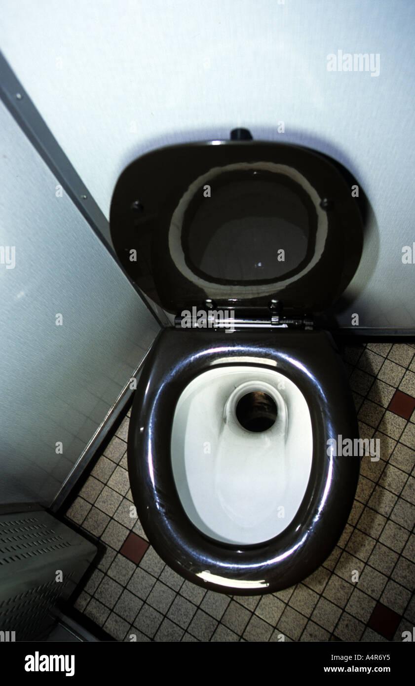 Toilet onboard a passenger train, Rotterdam, Netherlands. - Stock Image