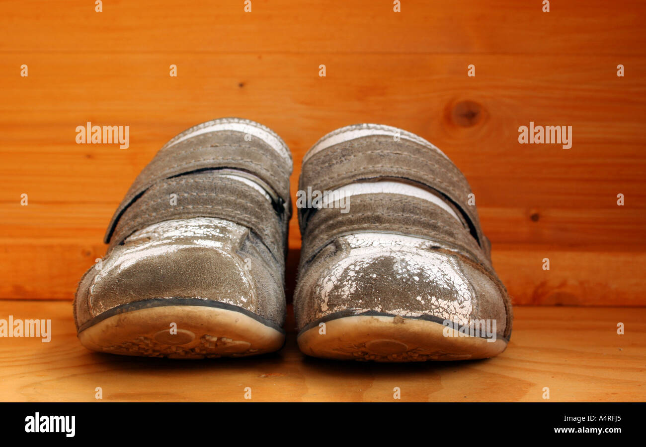 Old shoes - Stock Image
