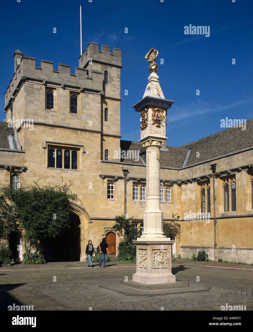 Corpus Christi College quad , Oxford , England. - Stock Image