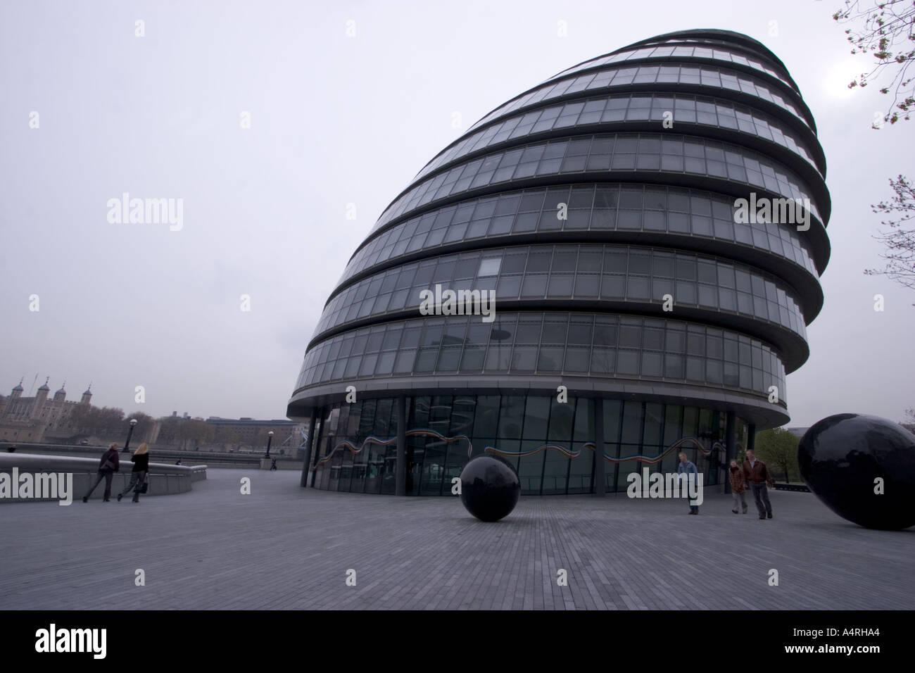 residence of London Assembly City Hall Building designed by Lord Foster at a cost of 43 million also known as glass testicle - Stock Image