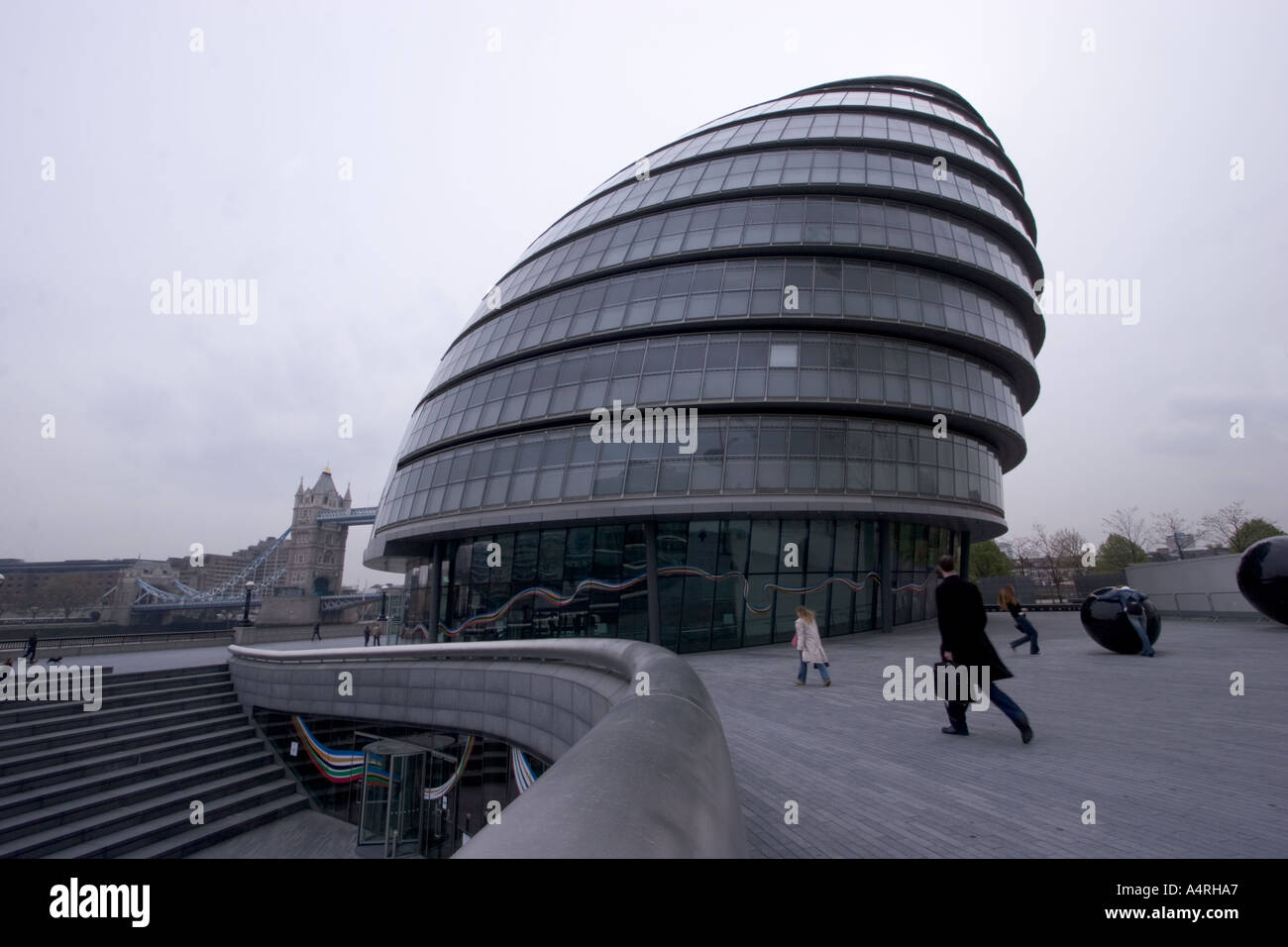 known as glass testicle residence of London Assembly City Hall Building designed by Lord Foster at a cost of 43 million also - Stock Image