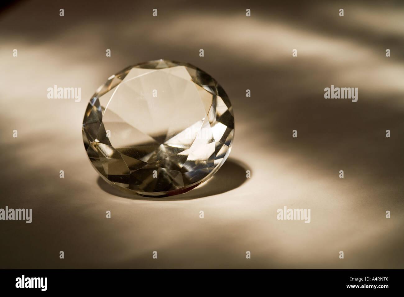 Swarosky crystal diamond cut - Stock Image