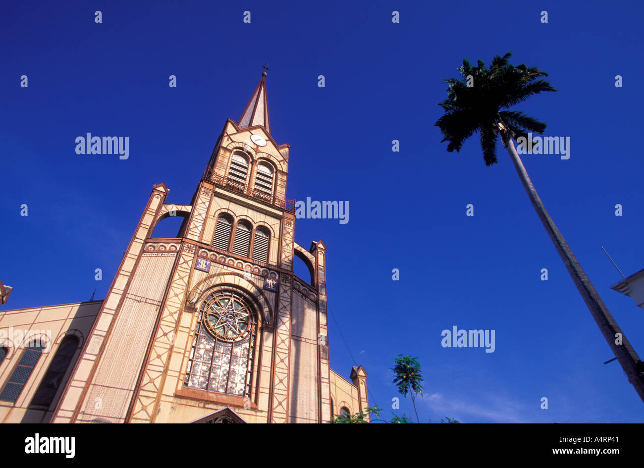 Cathedral Saint Louis in the center of Fort de France Martinique - Stock Image