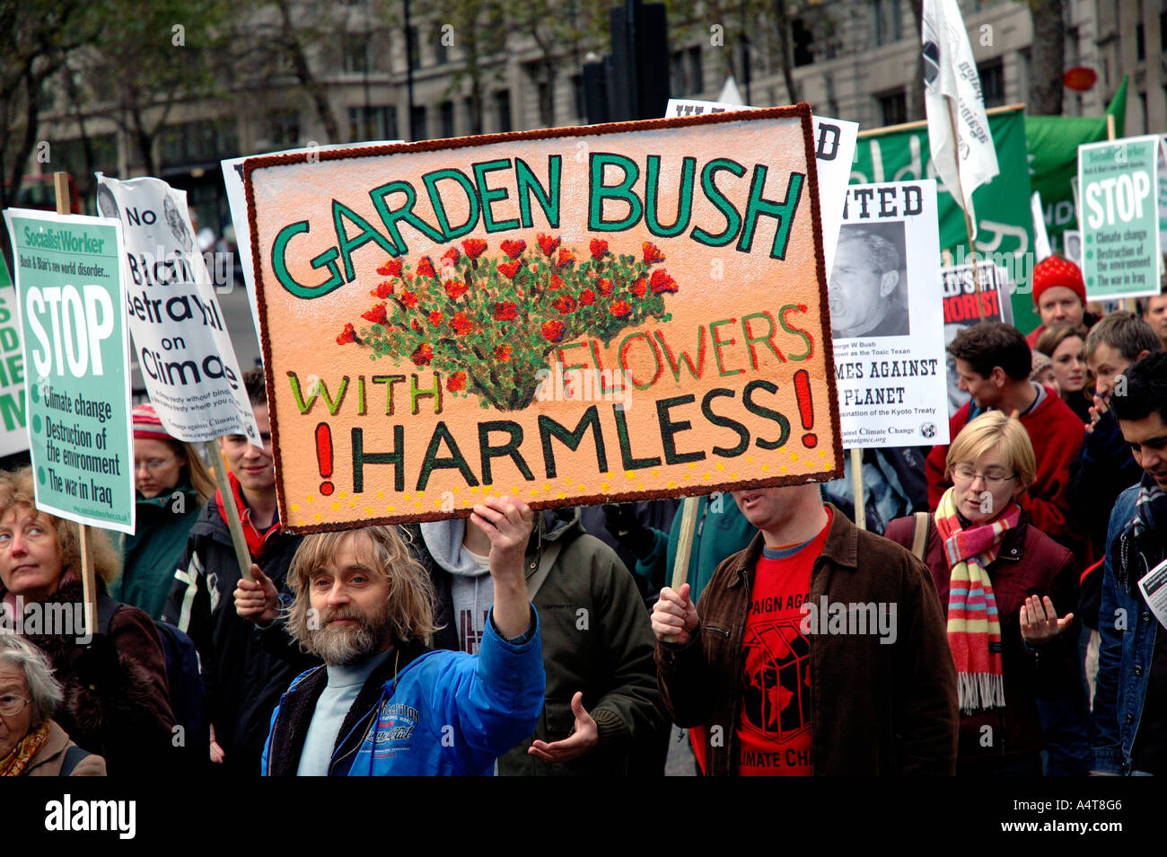 Climate Change Environmental protest through Central London. - Stock Image