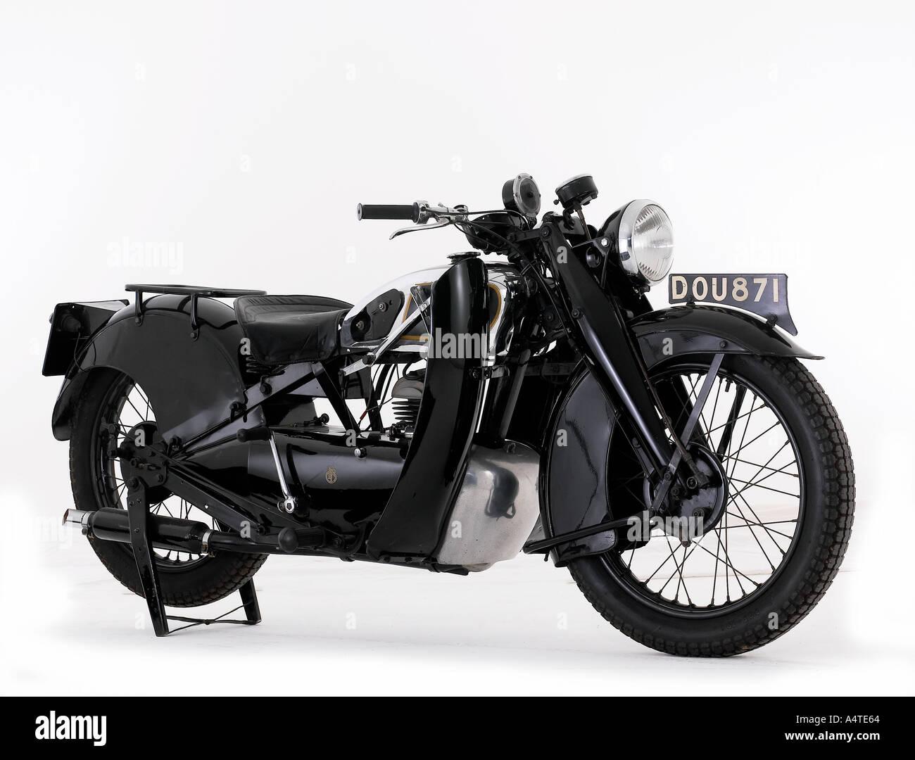 1940 Francis Barnett Cruiser K39 249cc - Stock Image
