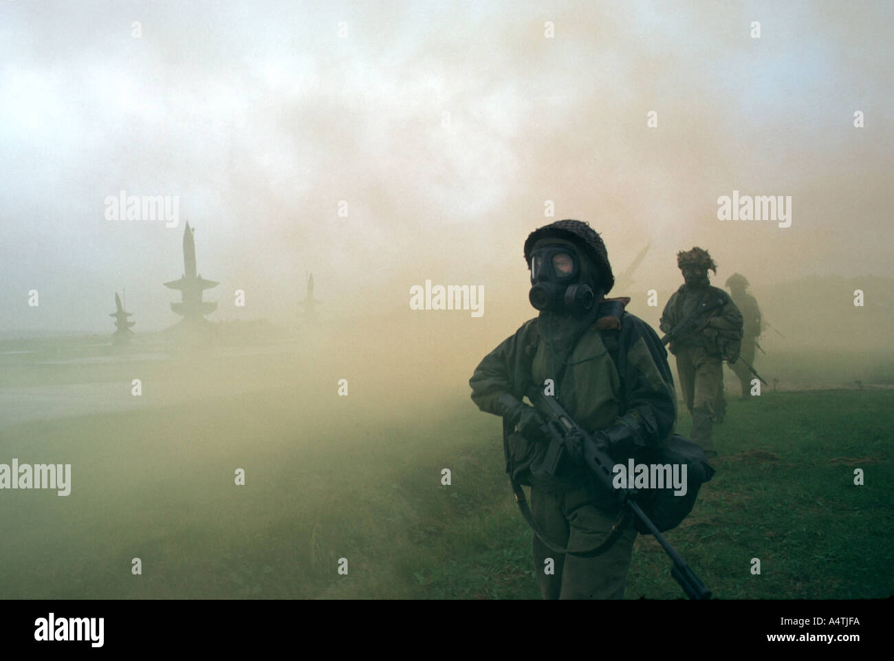 RAF Regiment soldiers - Stock Image