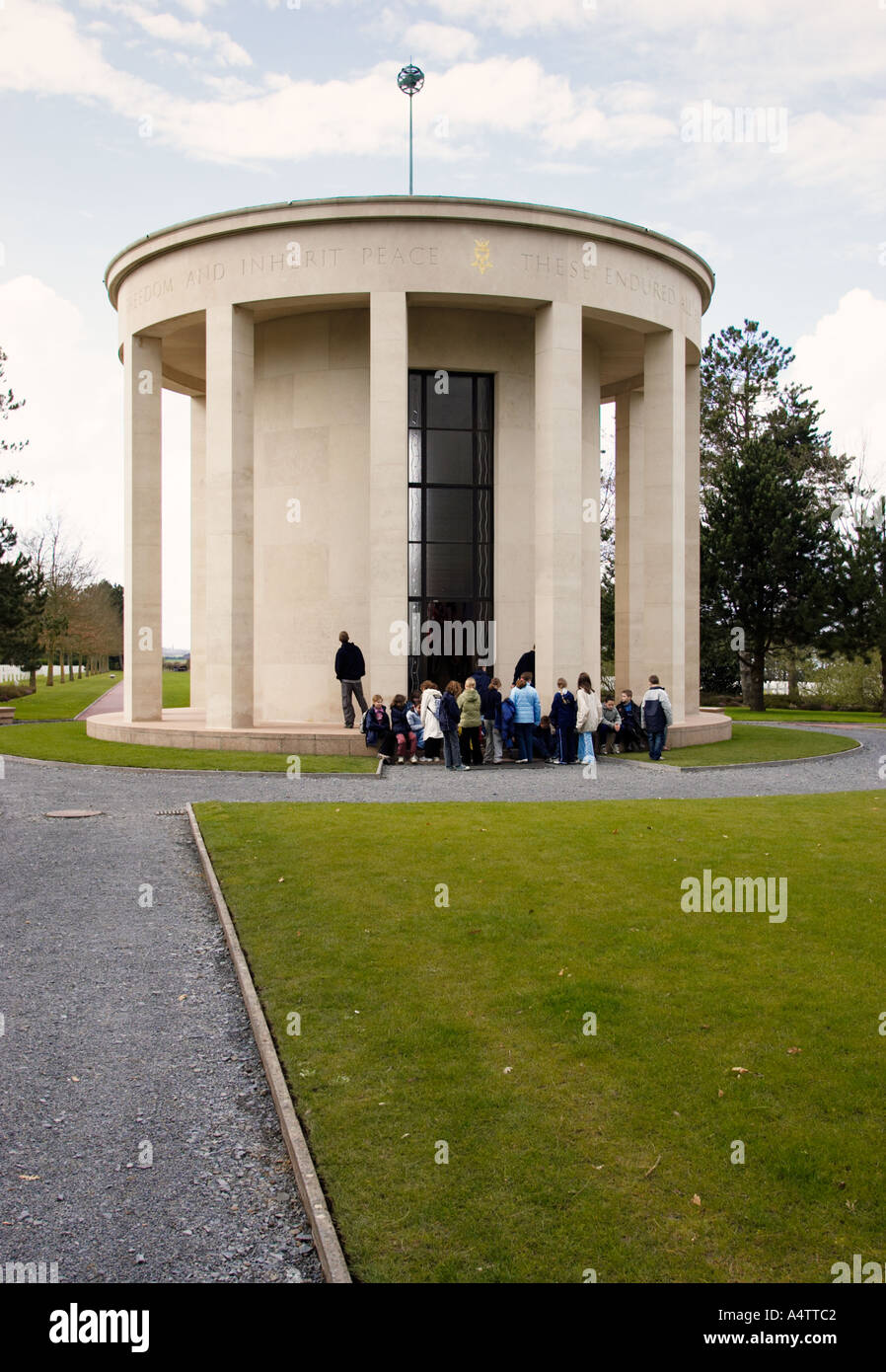 Chapel building at American Military Cemetery Normandy France - Stock Image