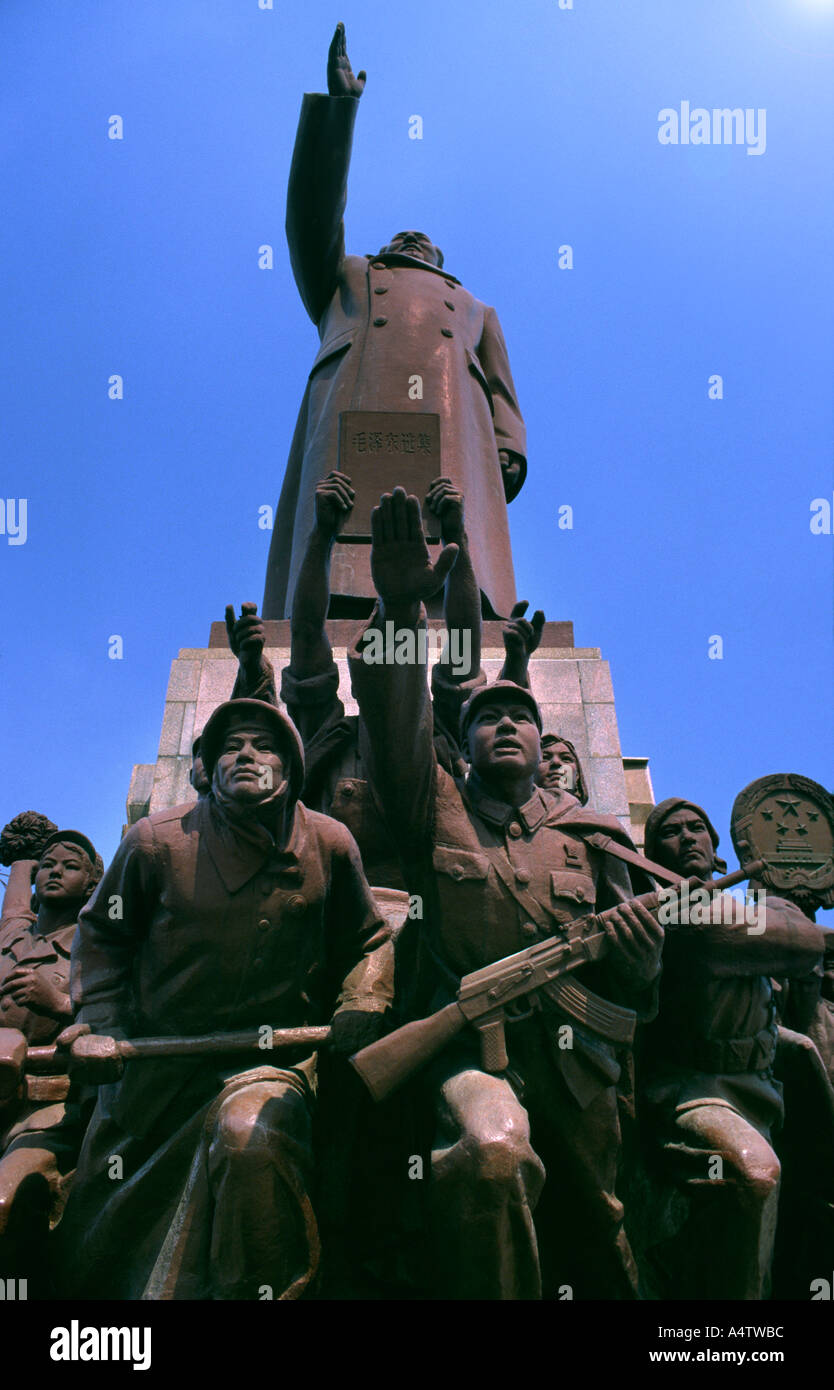 Mao statue Socialist Realism in Shenyang China - Stock Image