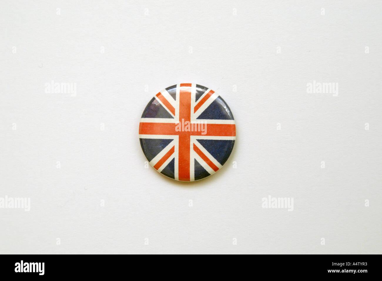 Badge of patriotic Union Flag England UK - Stock Image