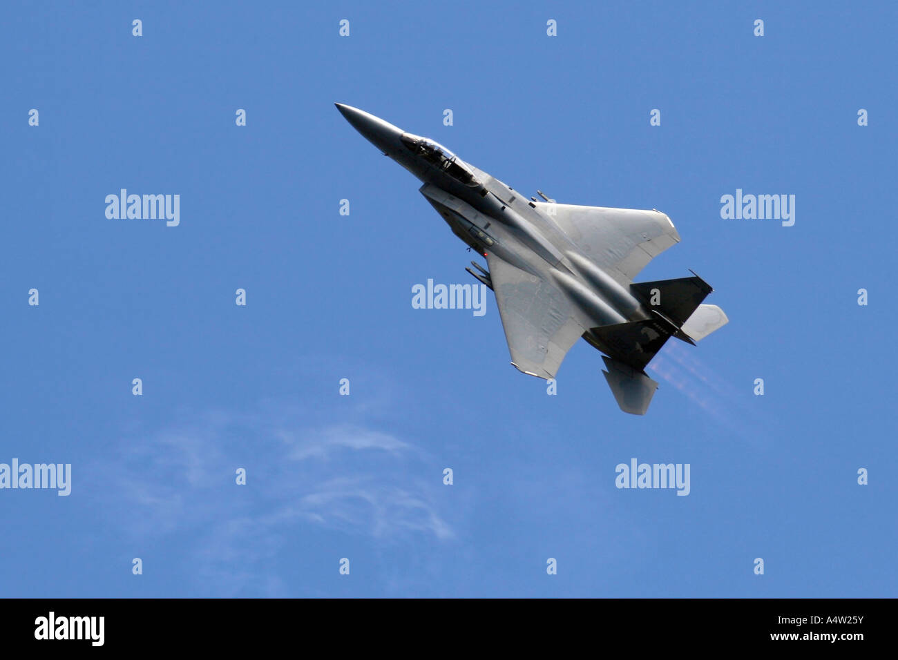 Military Jet in Climb Stock Photo