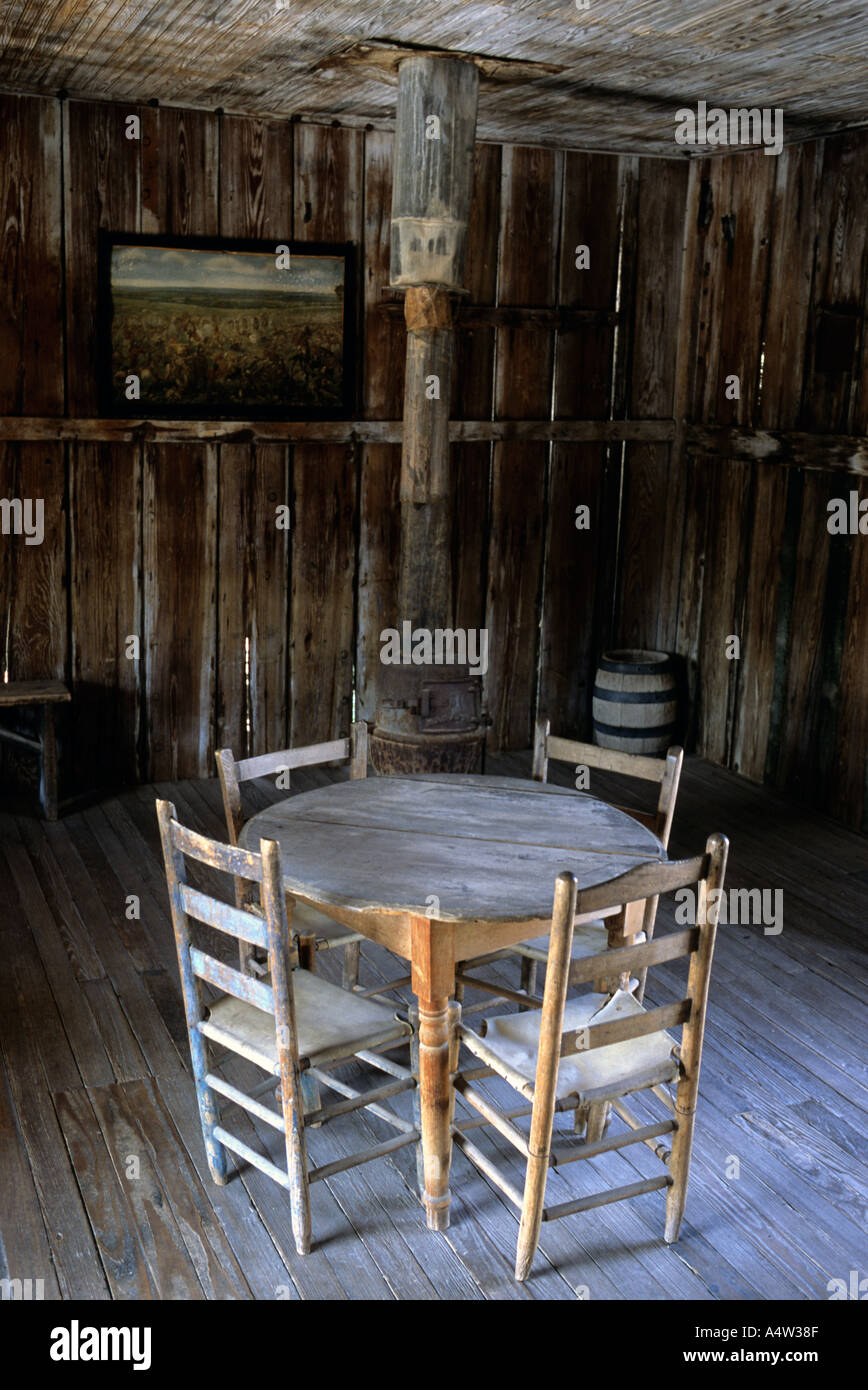 View of the historic saloon courthouse of judge Roy Bean in Langtry Texas Stock Photo