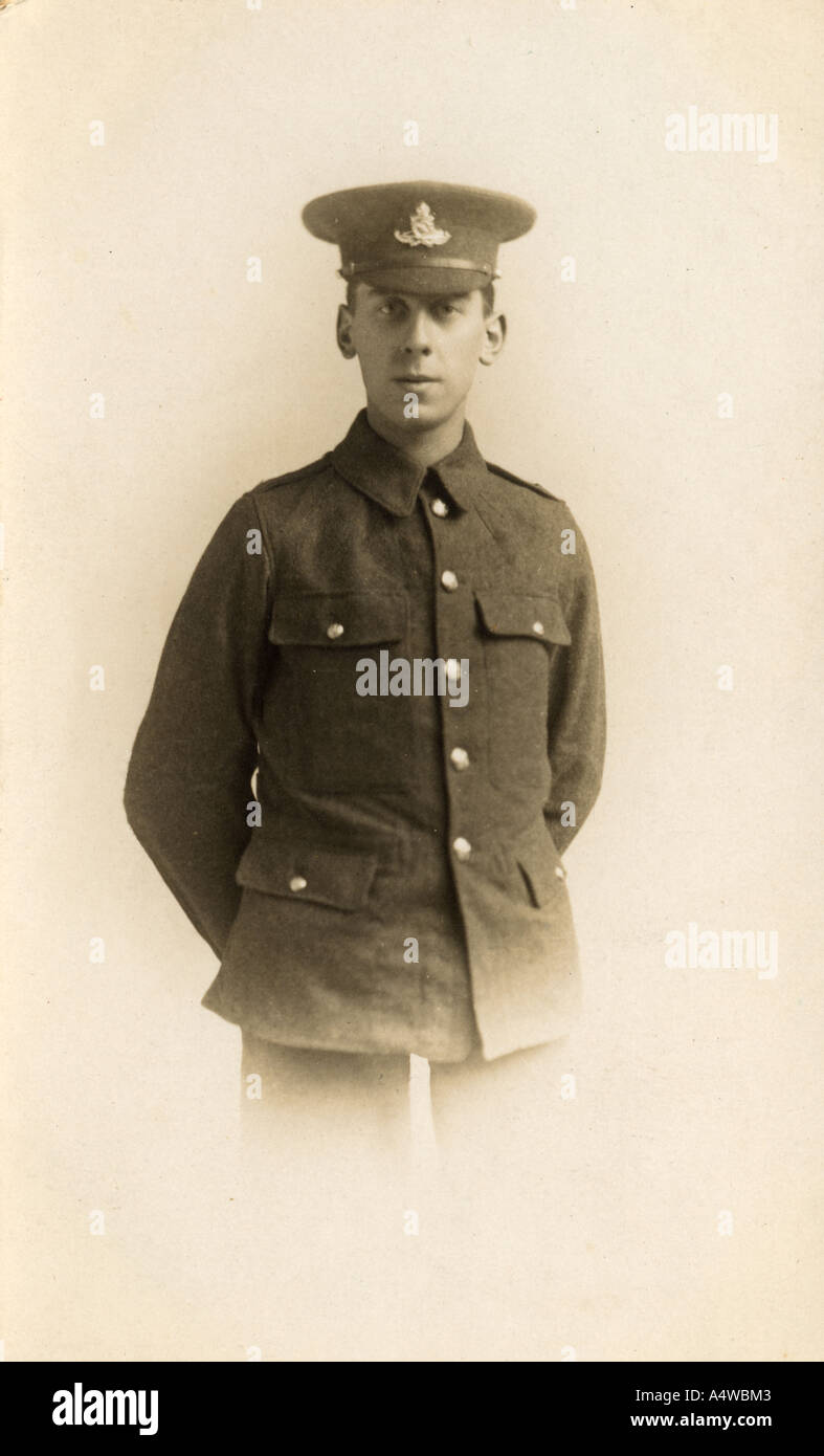 Edward Byfield - a young first world war one soldier who survived the war - Stock Image