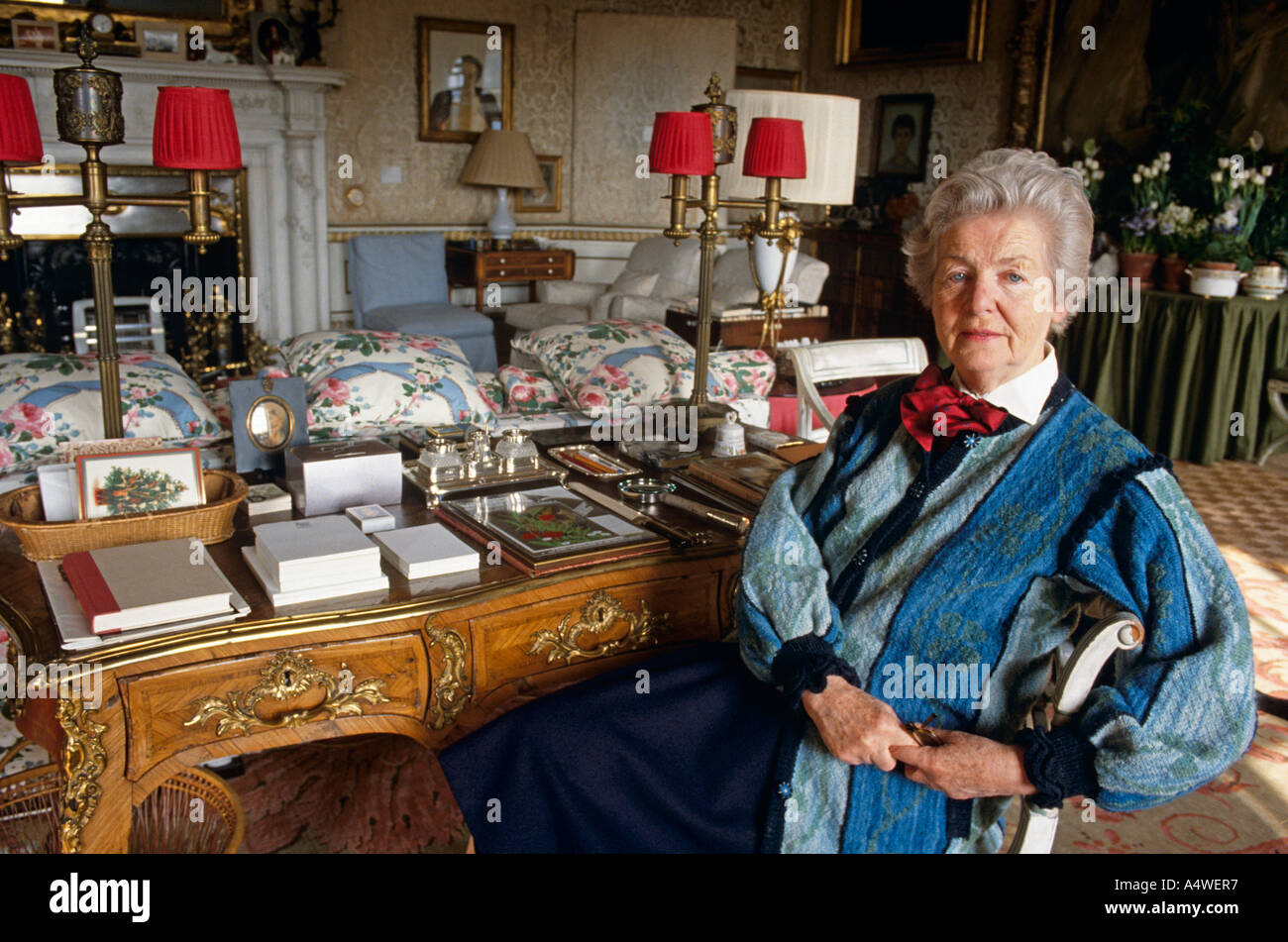 Deborah, Dowager Duchess of Chatsworth, Derbyshire - Stock Image