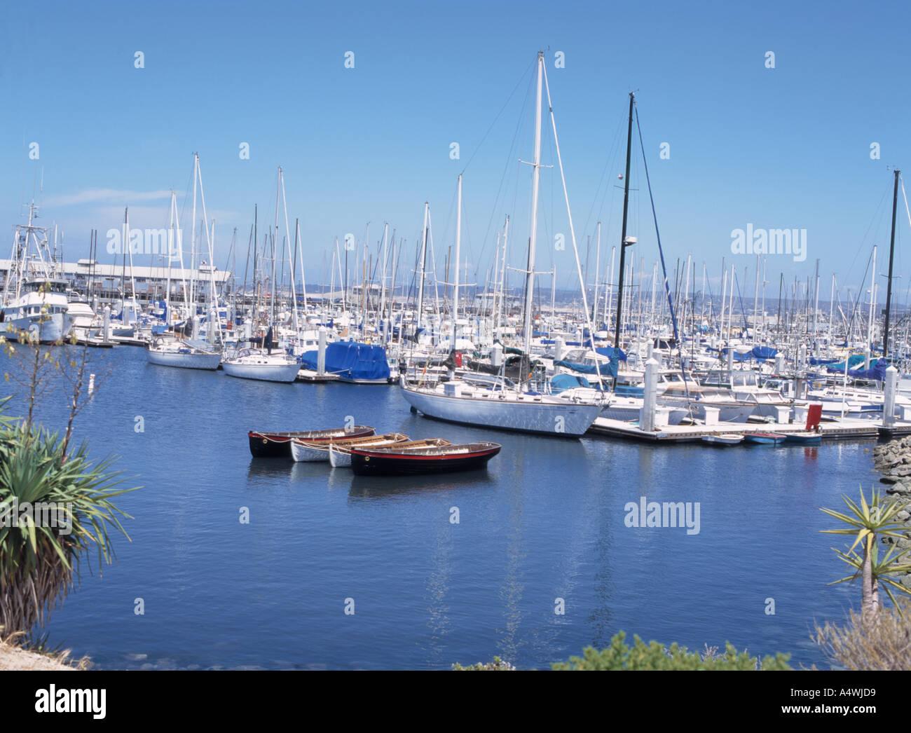 Monteray Harbour - Stock Image