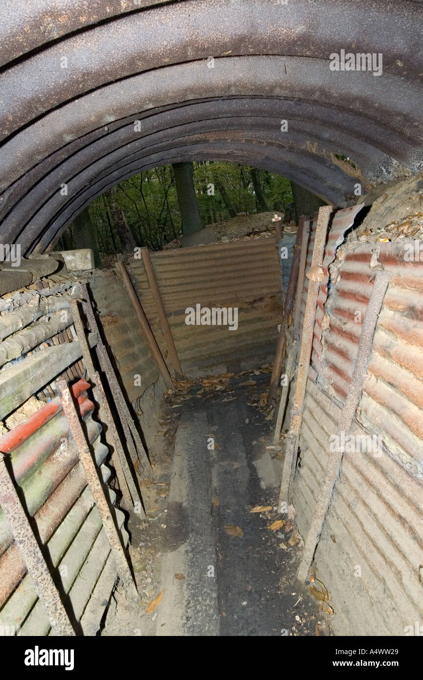 World war one trenches at Ypres Belgium - Stock Image