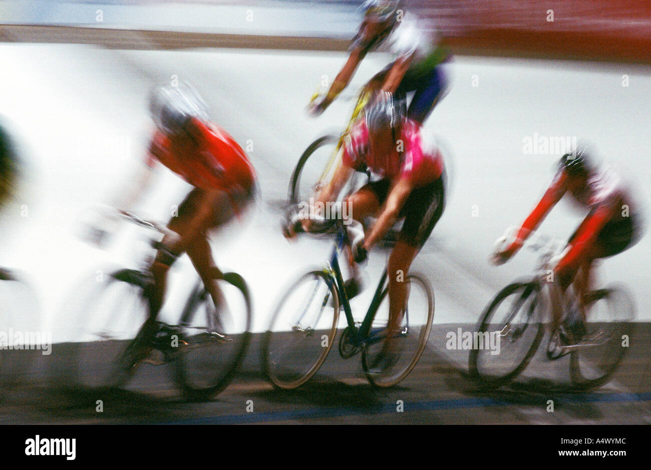 Indoor cycle race Sechs Tage Rennen at Stuttgart Baden Wuerttemberg Germany - Stock Image