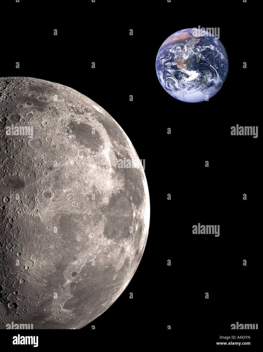 Moon Earth Nasa Stock Photos & Moon Earth Nasa Stock