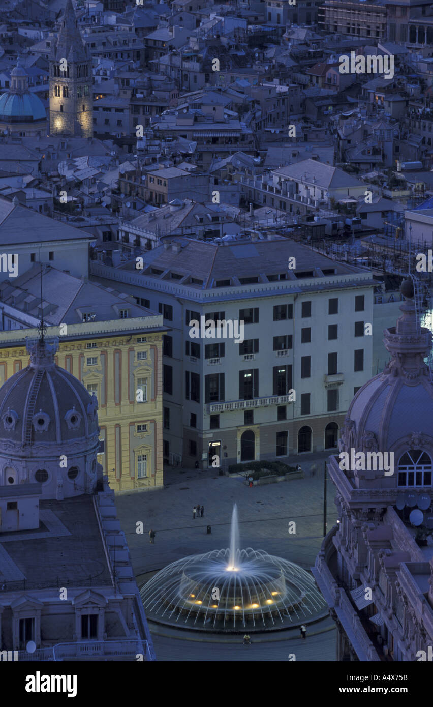View of Palazzo Ducale and Piazza de Ferrari from Terrazza Martini ...