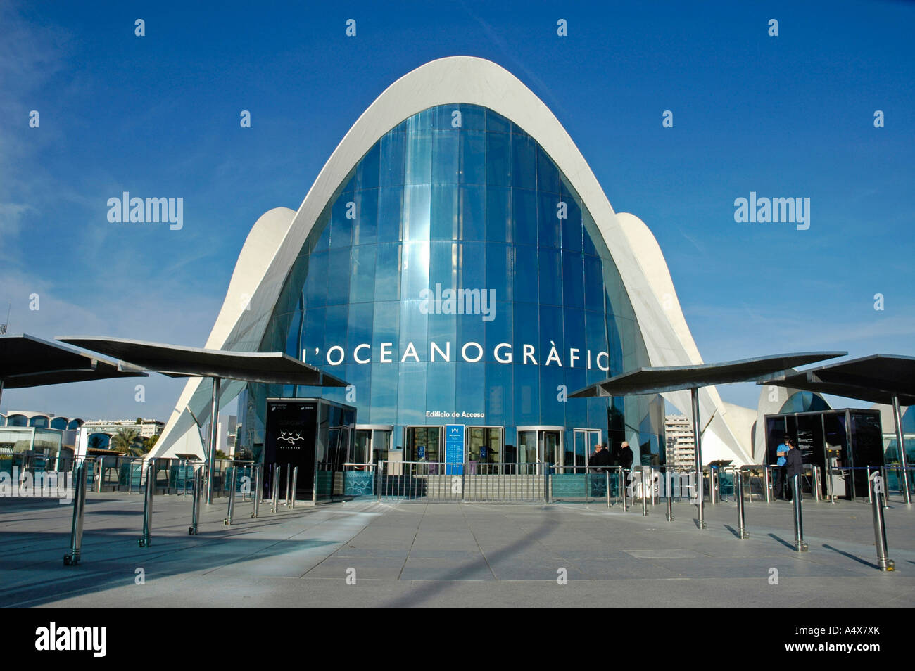 Aquarium L Oceanografic City Of Arts And Sciences Ciudad De Las Stock Photo Alamy