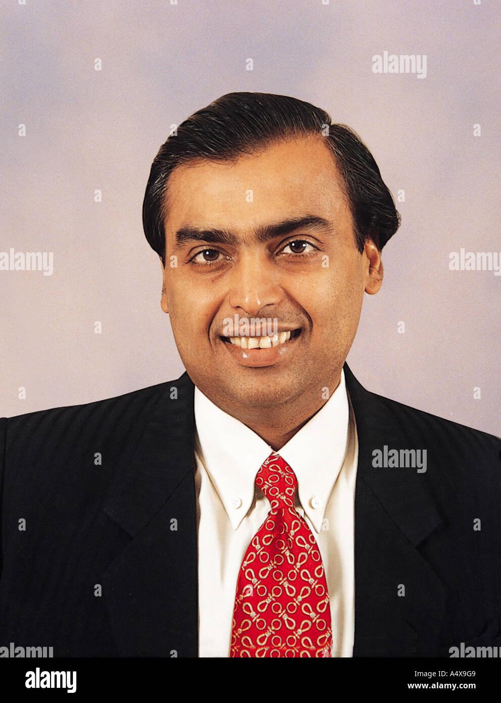Mukesh Ambani Mumbai Maharashtra - Stock Image