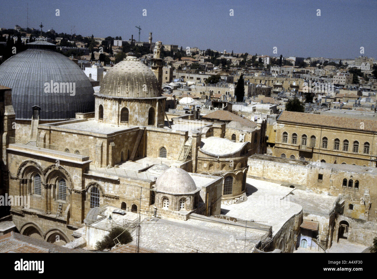 View of the Church of the Holy Sepulchre Jerusalem - Stock Image