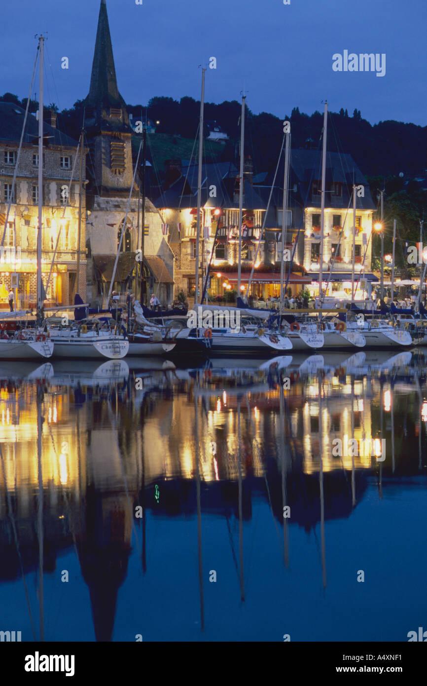 France Honfleur Vieux Bassin Stock Photo