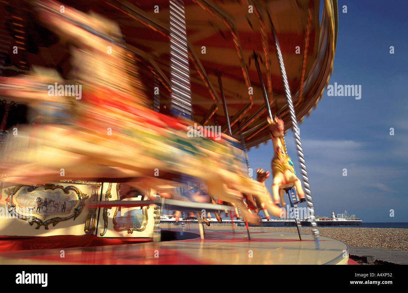 Merry go round at Brighton East Sussex England UK - Stock Image