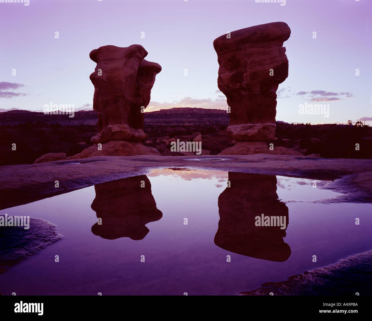 Hoodoos in Devils Garden Escalante National Park Utah USA - Stock Image