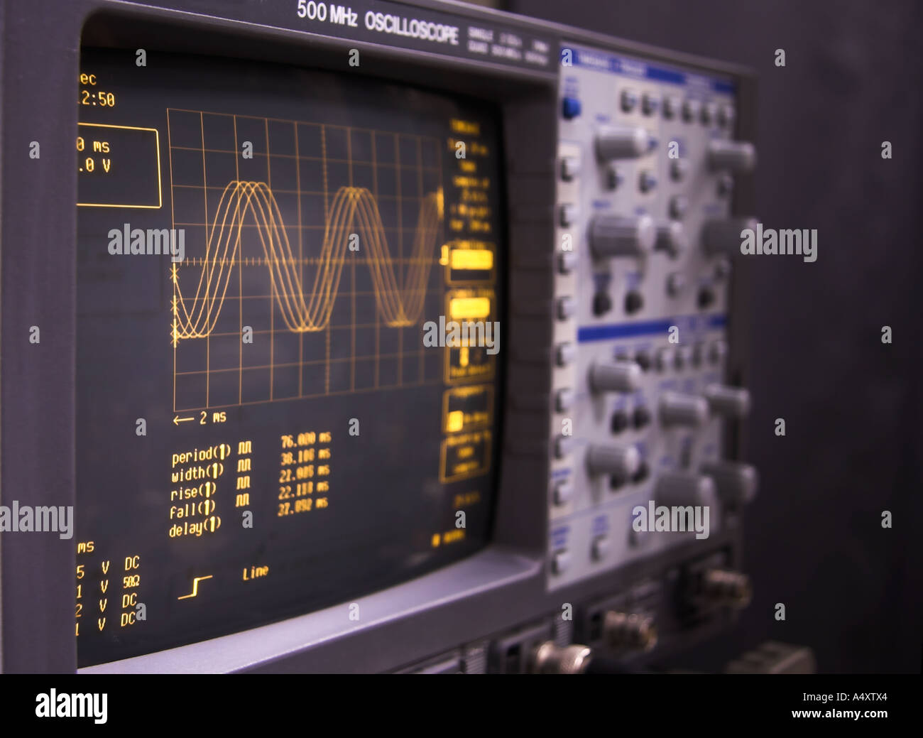 A modern digital LeCroy oscilloscope, brand name retouched out - Stock Image