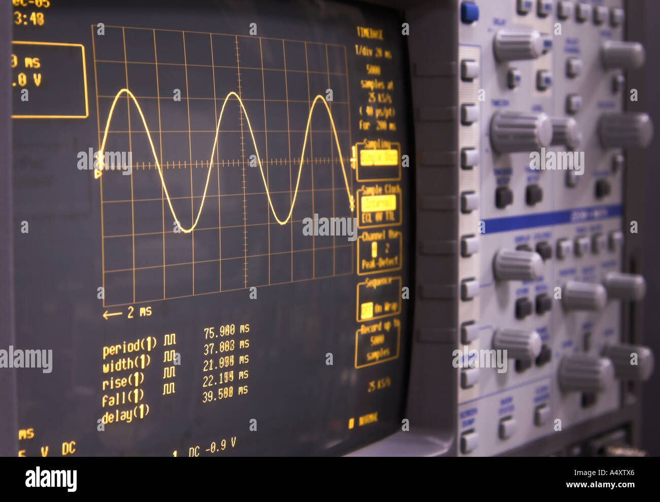 A modern digital LeCroy oscilloscope, brand name not visible - Stock Image