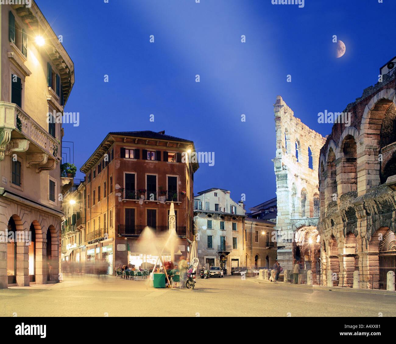 IT - VENETO: Piazza Bra at Verona - Stock Image