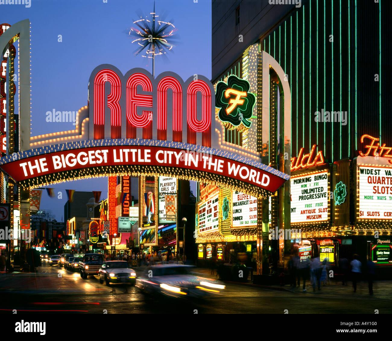 USA - NEVADA:  Reno at night - Stock Image