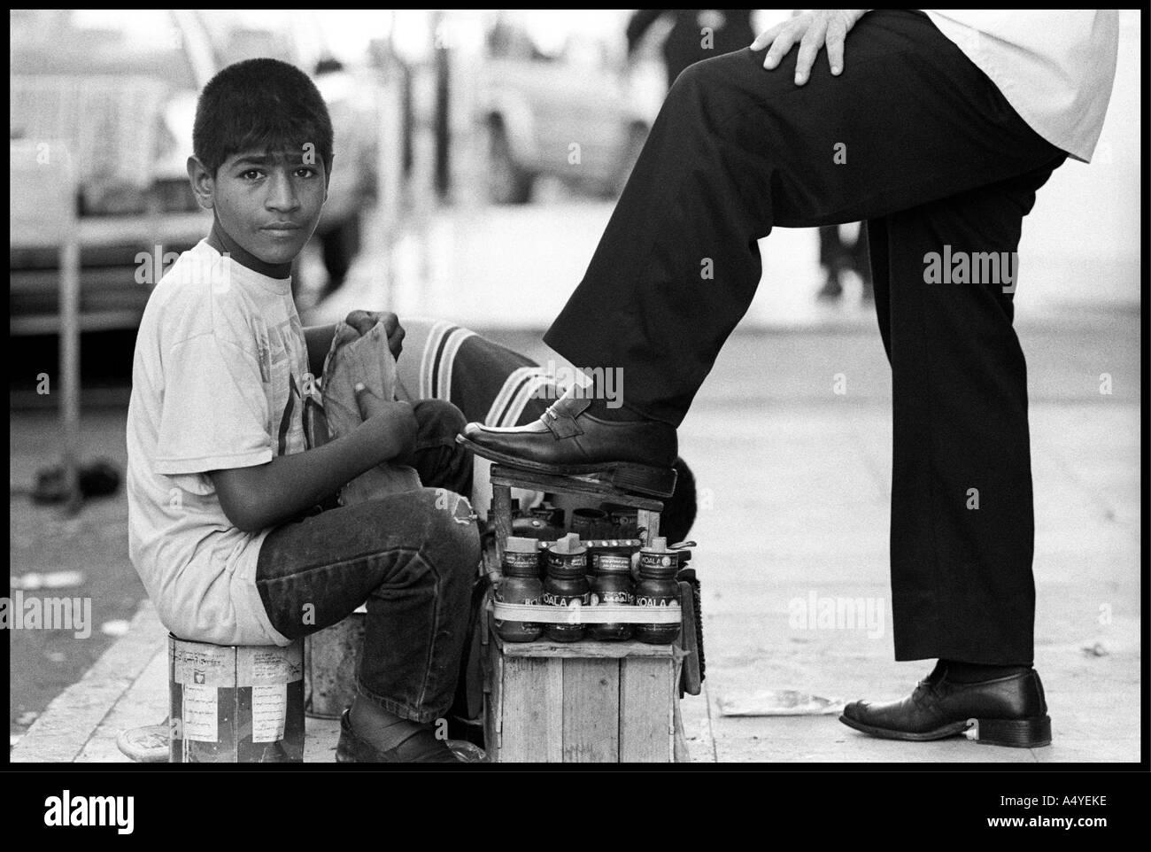 Shoeshine Boy High Resolution Stock