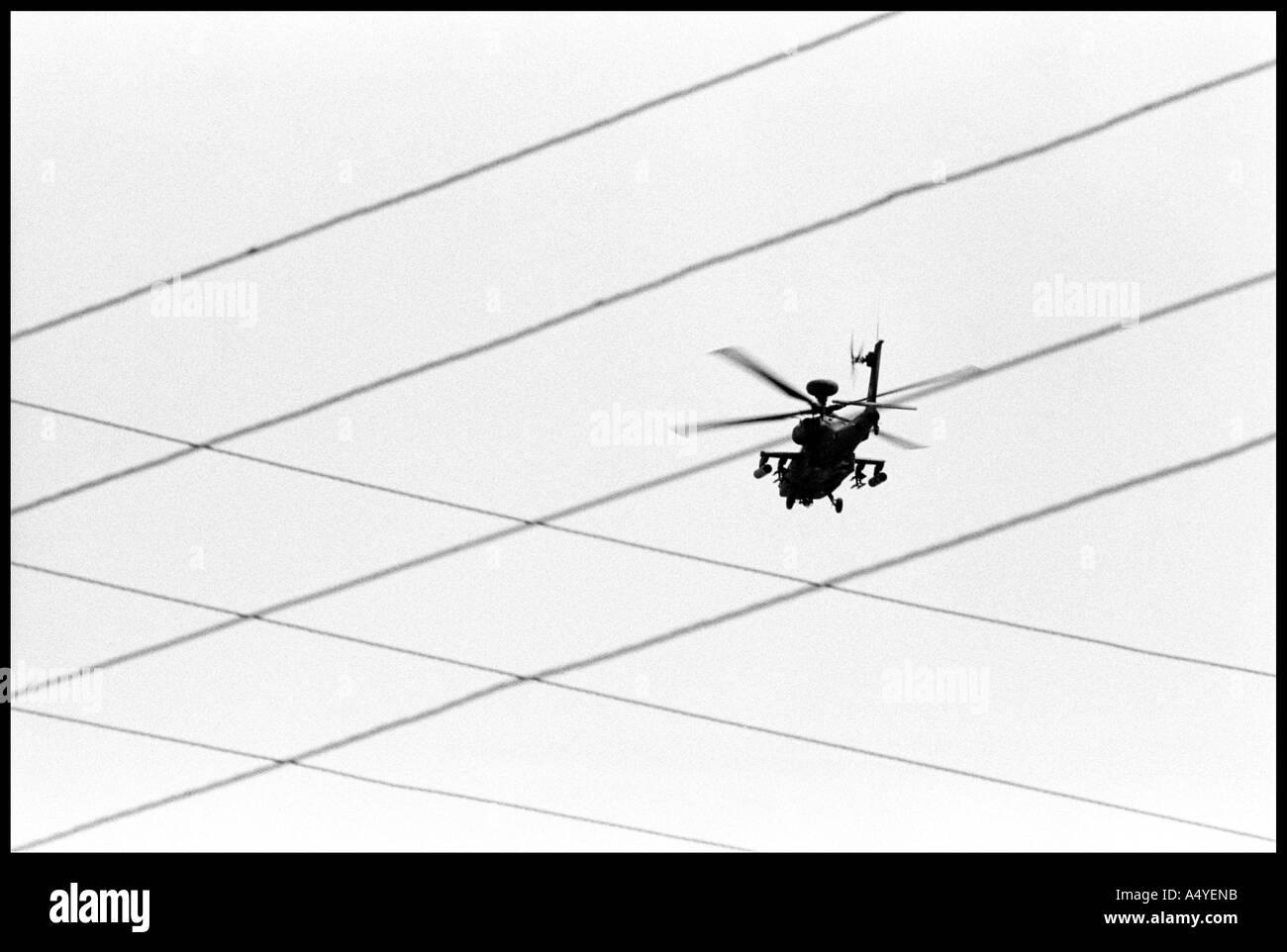 American Apache chopper, Kirkuk - Stock Image