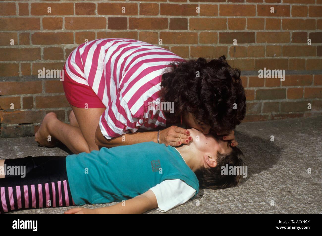 Boy woman kiss 7 Places