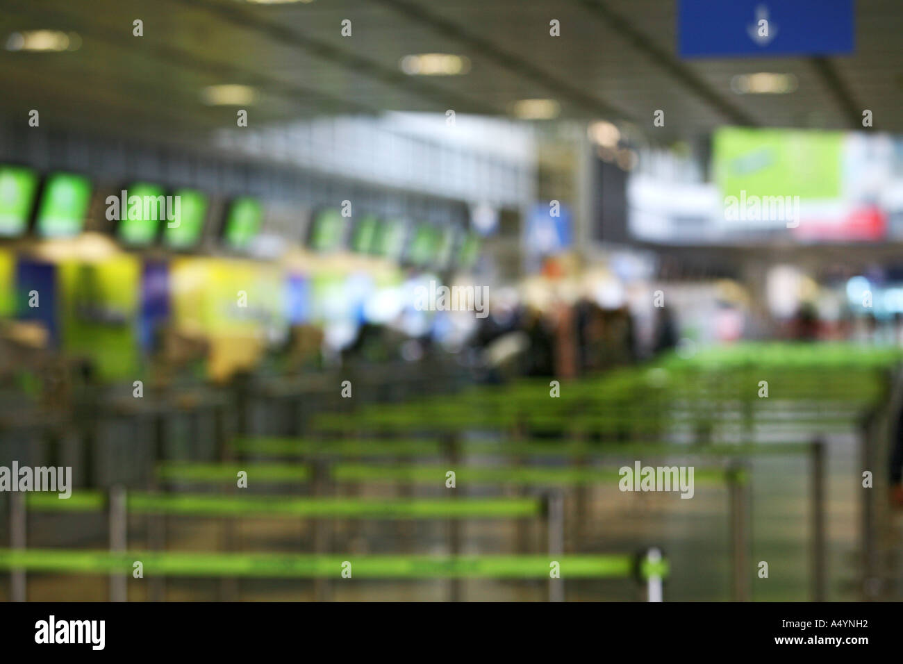 Check in at the airport (blurred background image) - Stock Image