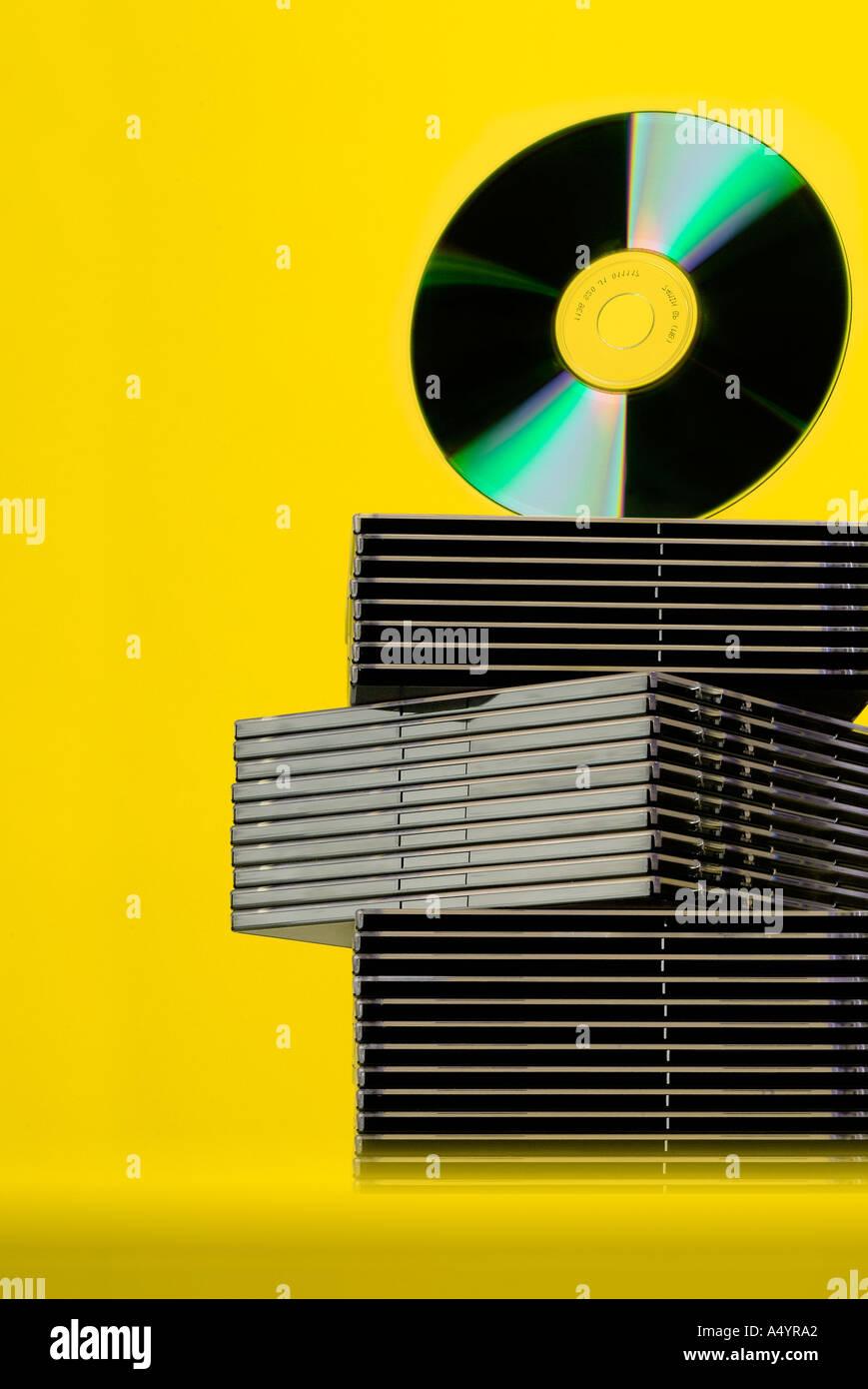 CD DVD Disks CDs DVDs - Stock Image