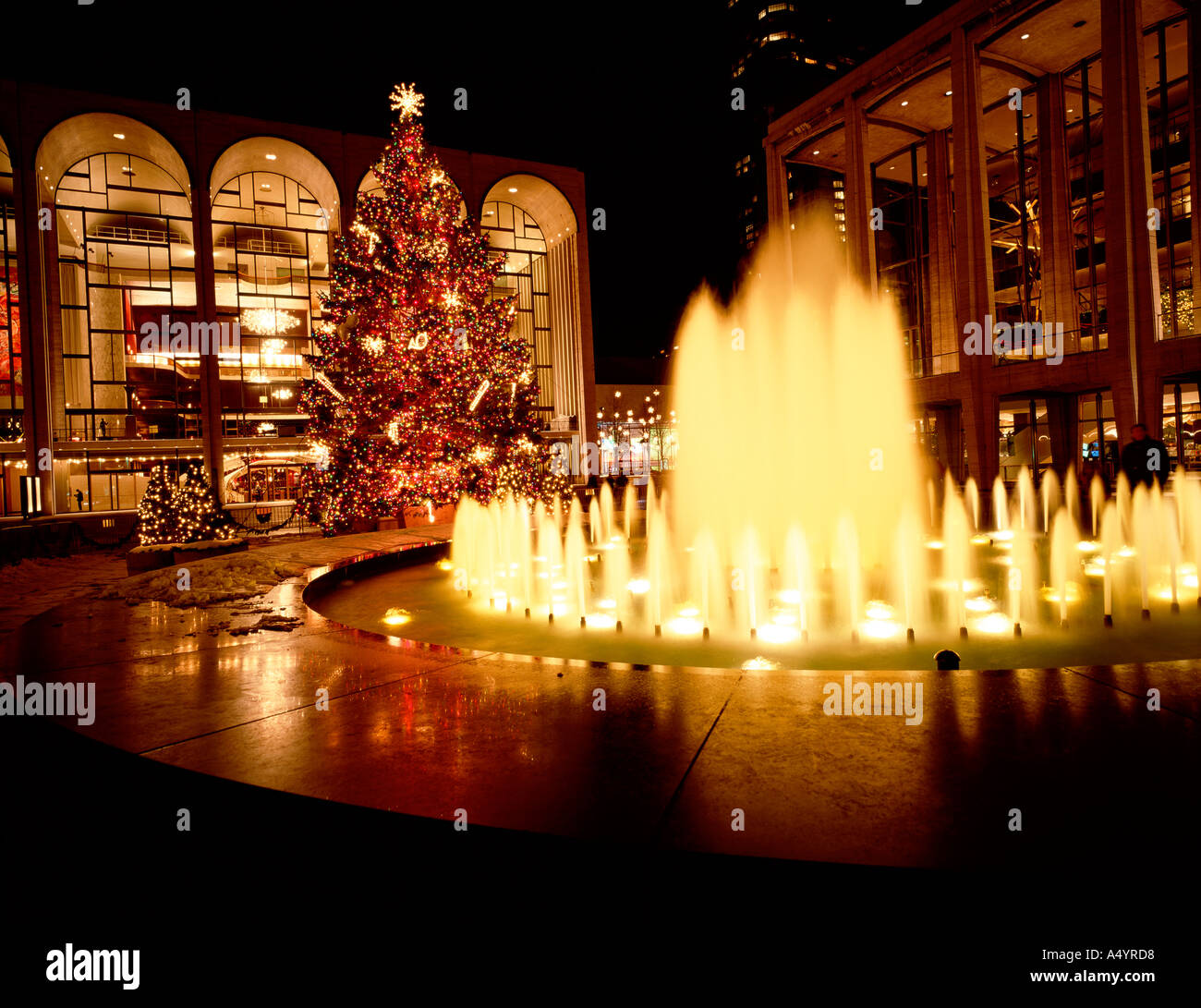 Lincoln Center Performing Arts New York America USA - Stock Image