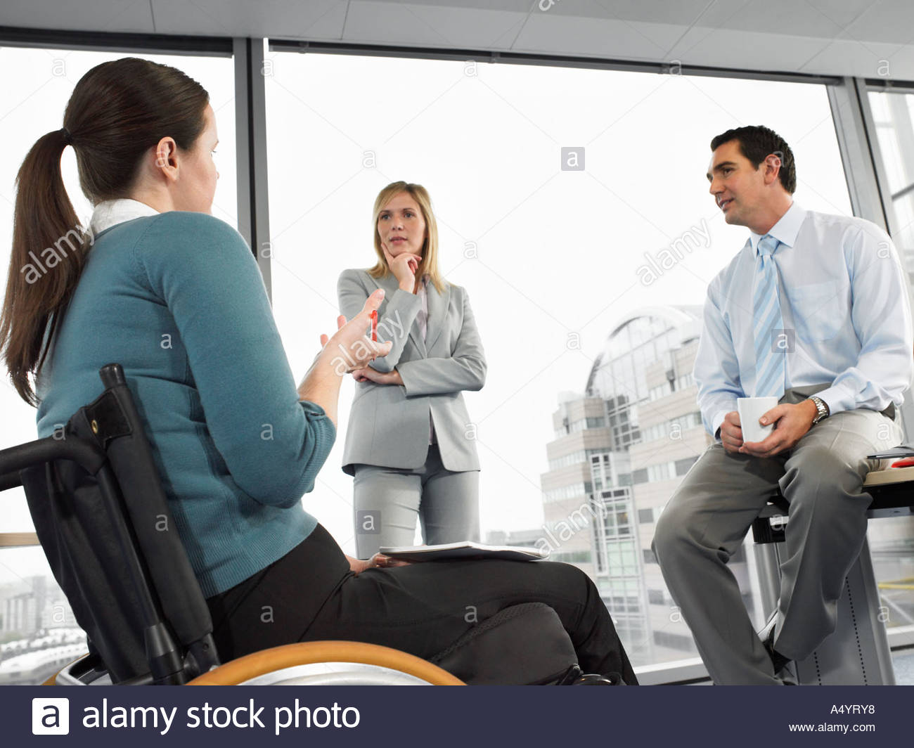 Office workers in meeting Stock Photo
