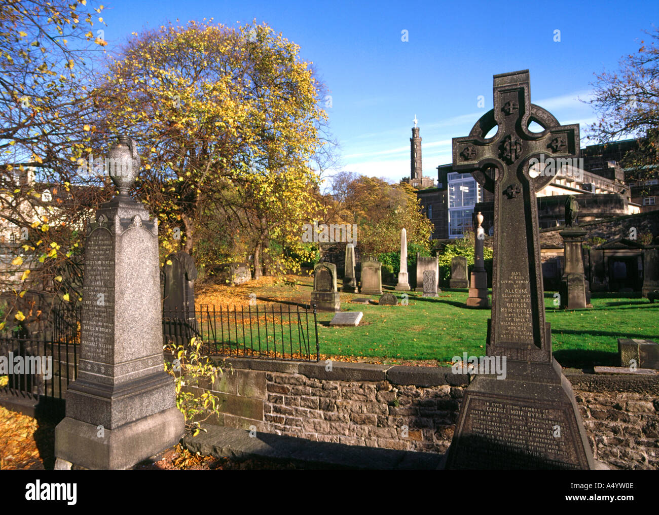 dh  CALTON EDINBURGH Graves in Old cemetery burial ground Stock Photo