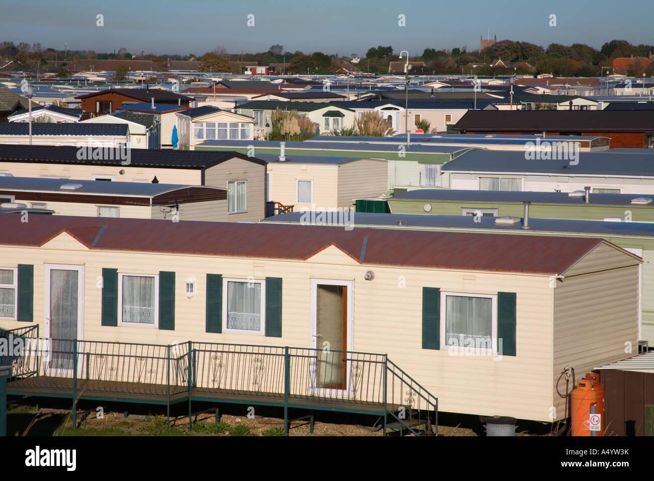 static caravan park sutton on sea lincolnshire - Stock Image