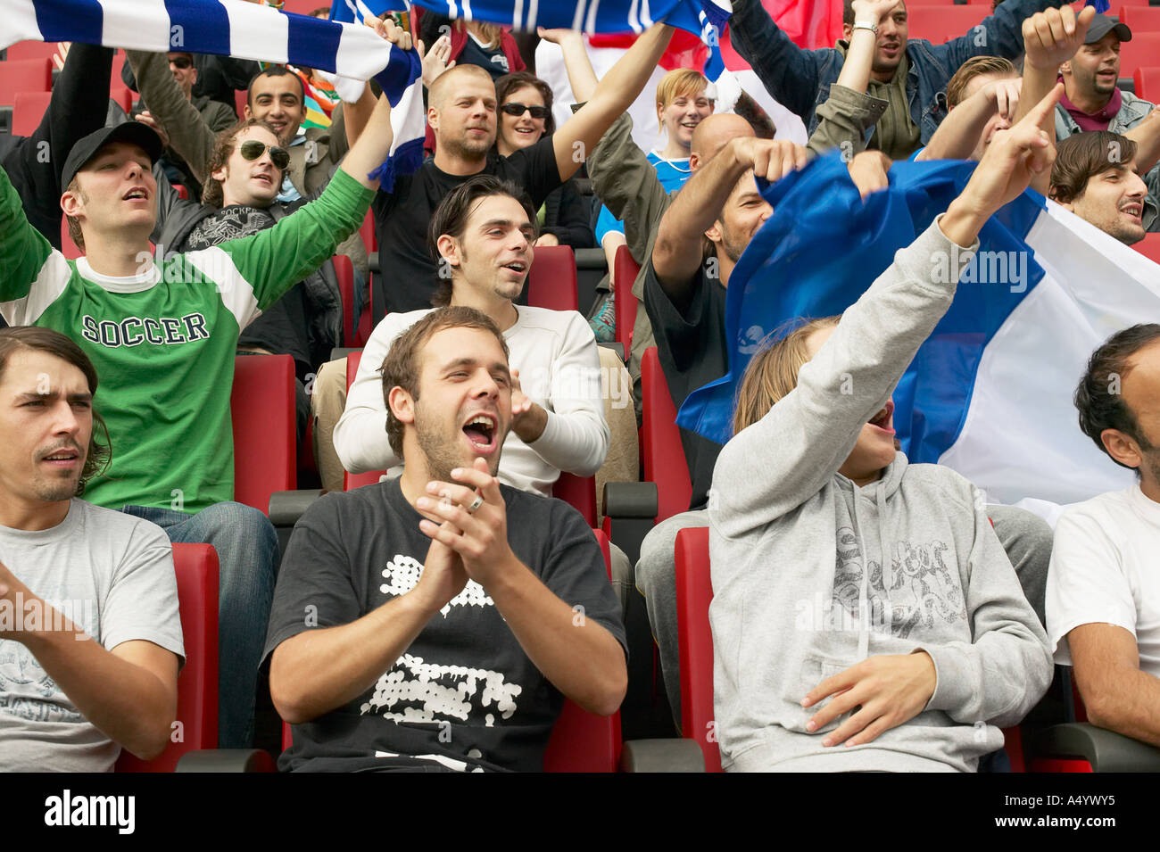 Crowd at football match - Stock Image